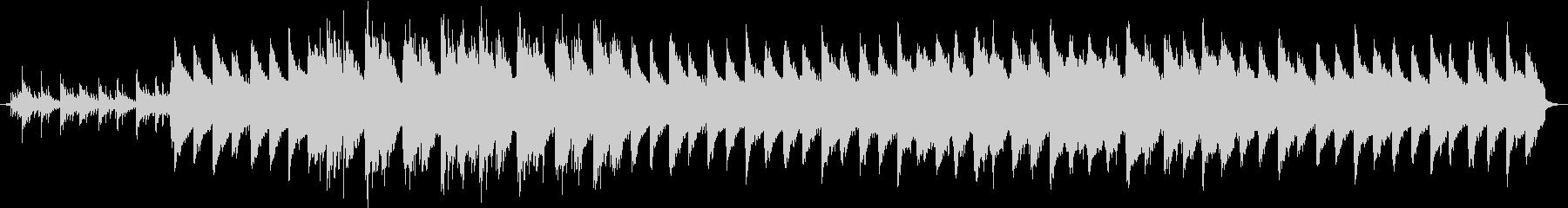 感動のシーン、切ないピアノのバラードの未再生の波形