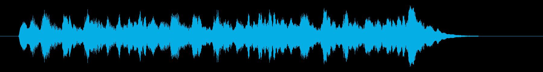 優しいシンセサウンド(神秘、宇宙)の再生済みの波形