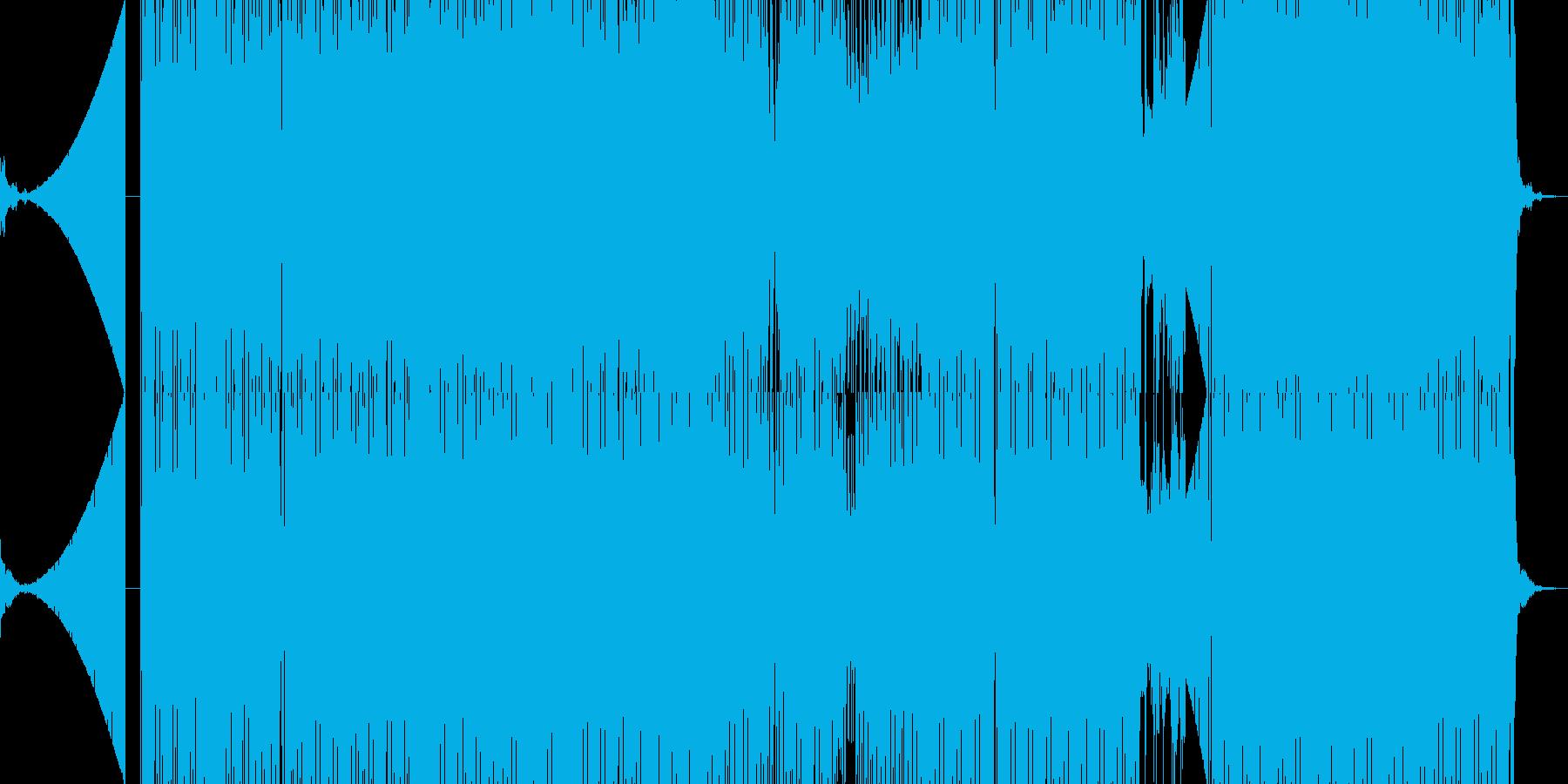 疾走感のある四つ打ちテクノの再生済みの波形