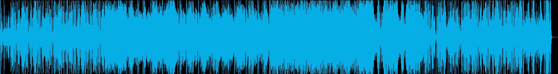 ジャズ・ファンクテイストのギターインストの再生済みの波形
