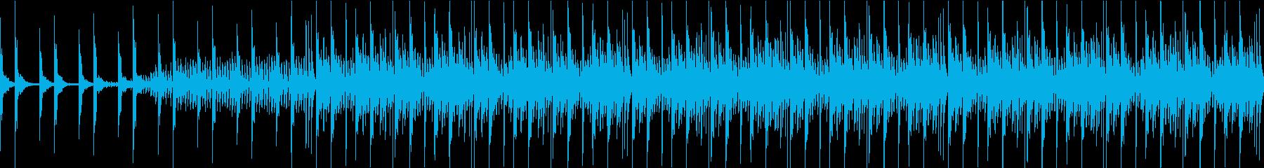 緊迫した場面を演出するループ曲の再生済みの波形
