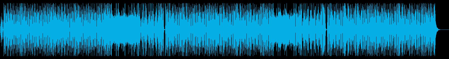 ビーチサイドに、ゆったりとしたインストの再生済みの波形