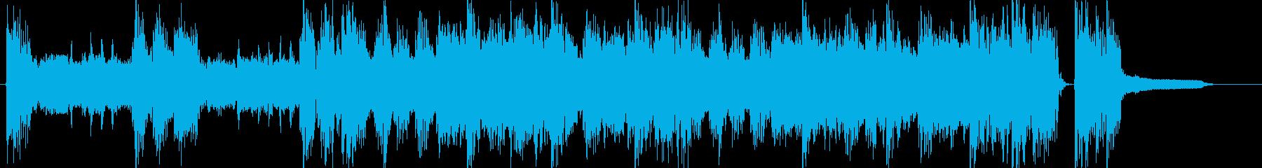 CMロック出囃子オープニング登場BGMの再生済みの波形