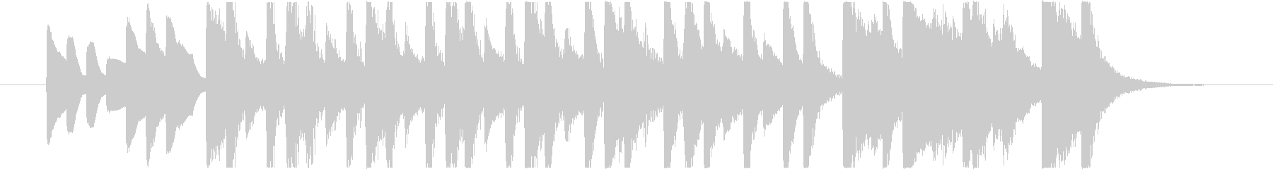 コミカルで可愛いBGMの未再生の波形
