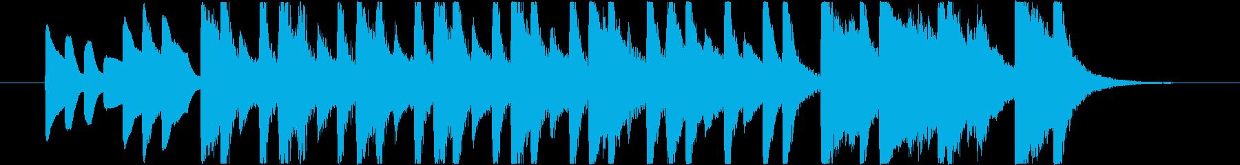 コミカルで可愛いBGMの再生済みの波形