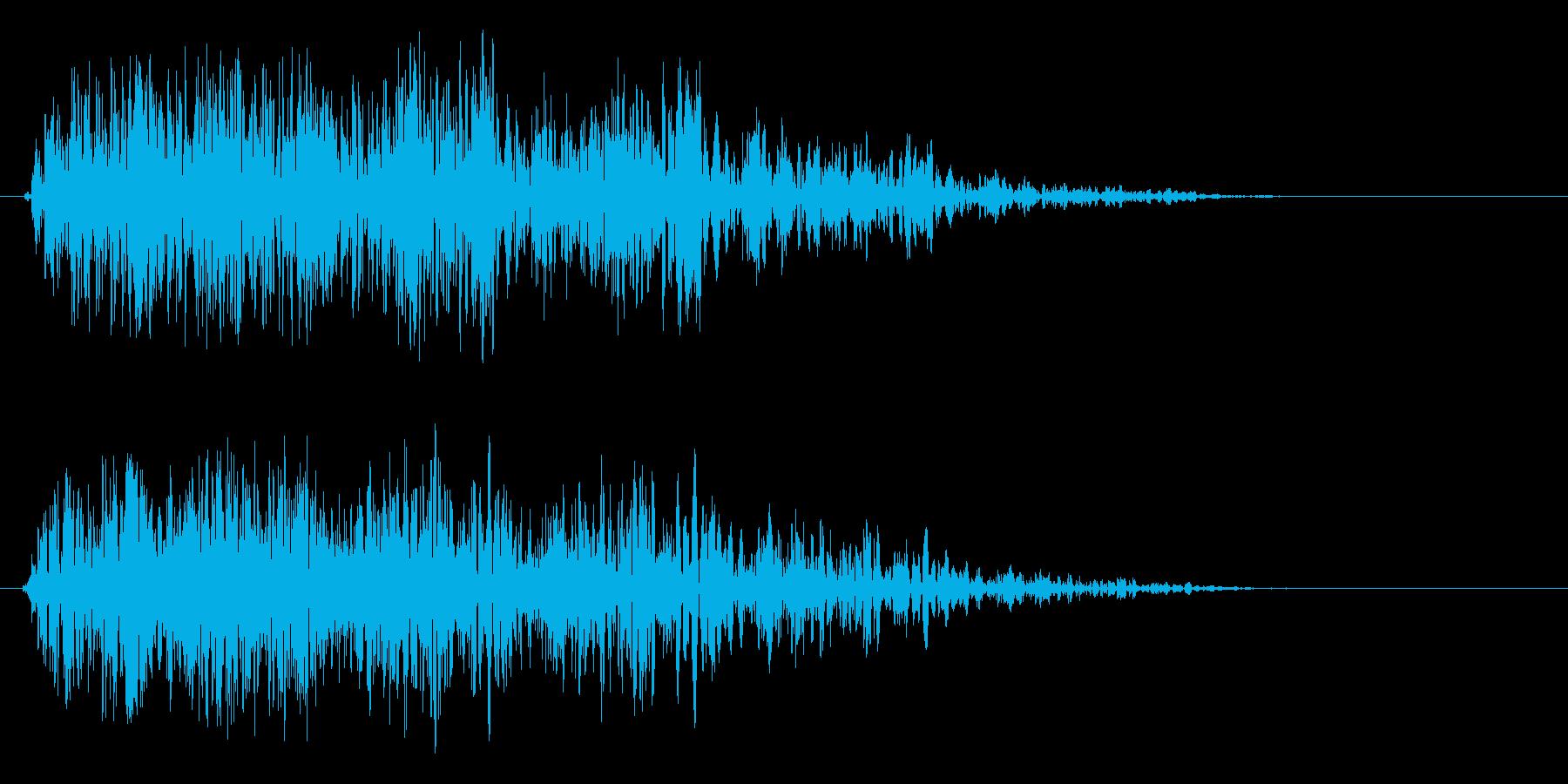 ビュワァァ〜ン(物体の連続して動く音)の再生済みの波形