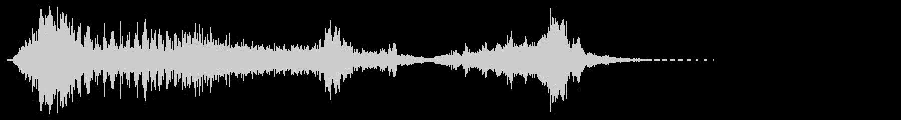 ロボットの声、モーフ、機械、ロボッ...の未再生の波形