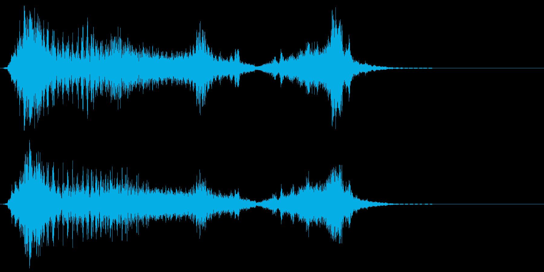 ロボットの声、モーフ、機械、ロボッ...の再生済みの波形