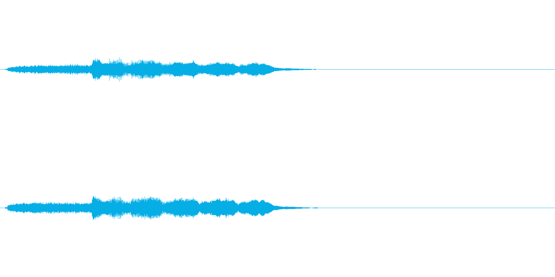 場面転換SEジングルの再生済みの波形