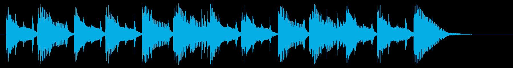 ゆったりとのんびりなシンセジングルの再生済みの波形