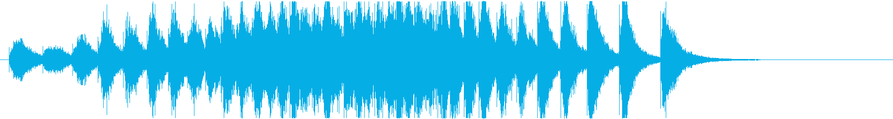 幕開き(銅鑼みたいな音)近距離の再生済みの波形
