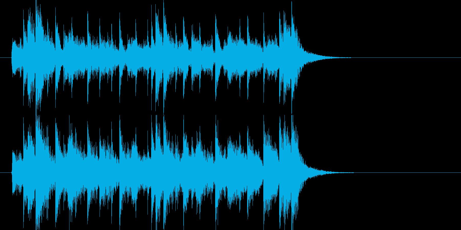 何かを追跡するような軽快なジングルの再生済みの波形