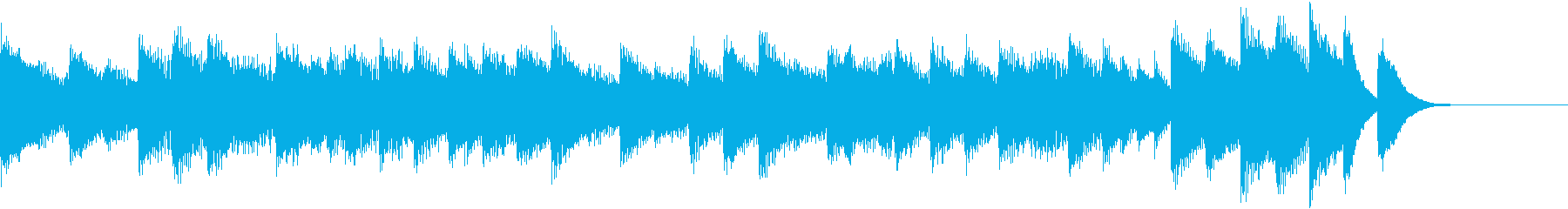 料理動画に♪煌びやかな中華ピアノジングルの再生済みの波形