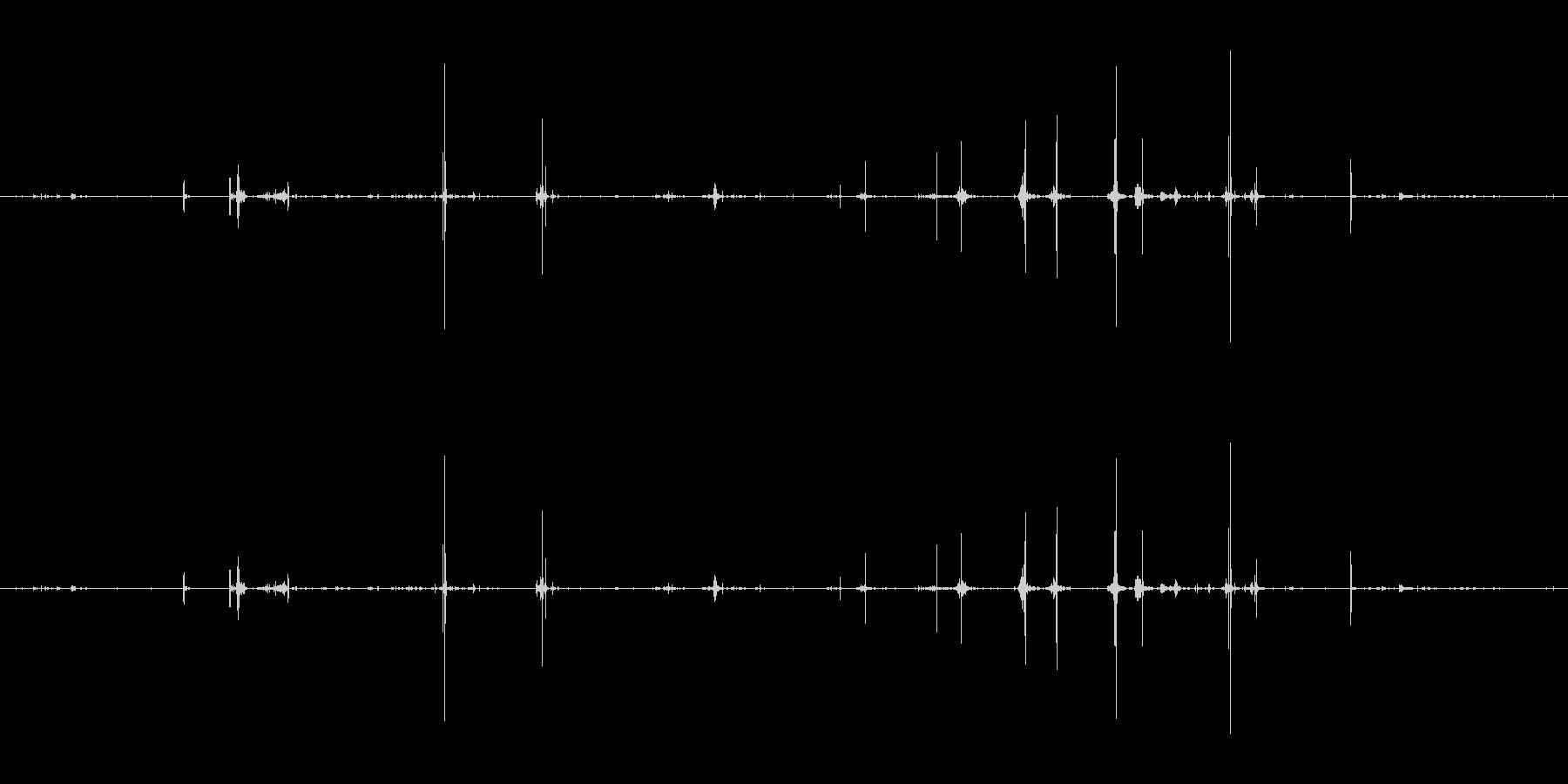 メタル ウォッチストラップラトル09の未再生の波形