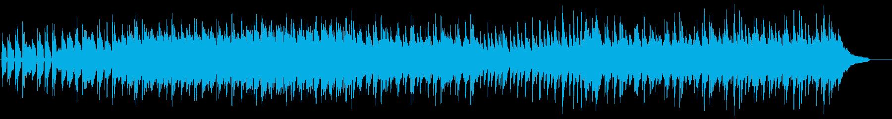 日常系アニメっぽい軽快で軽い曲の再生済みの波形