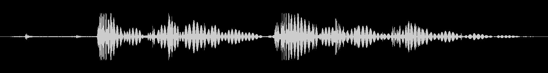 ショートローリングロックタンブルの未再生の波形