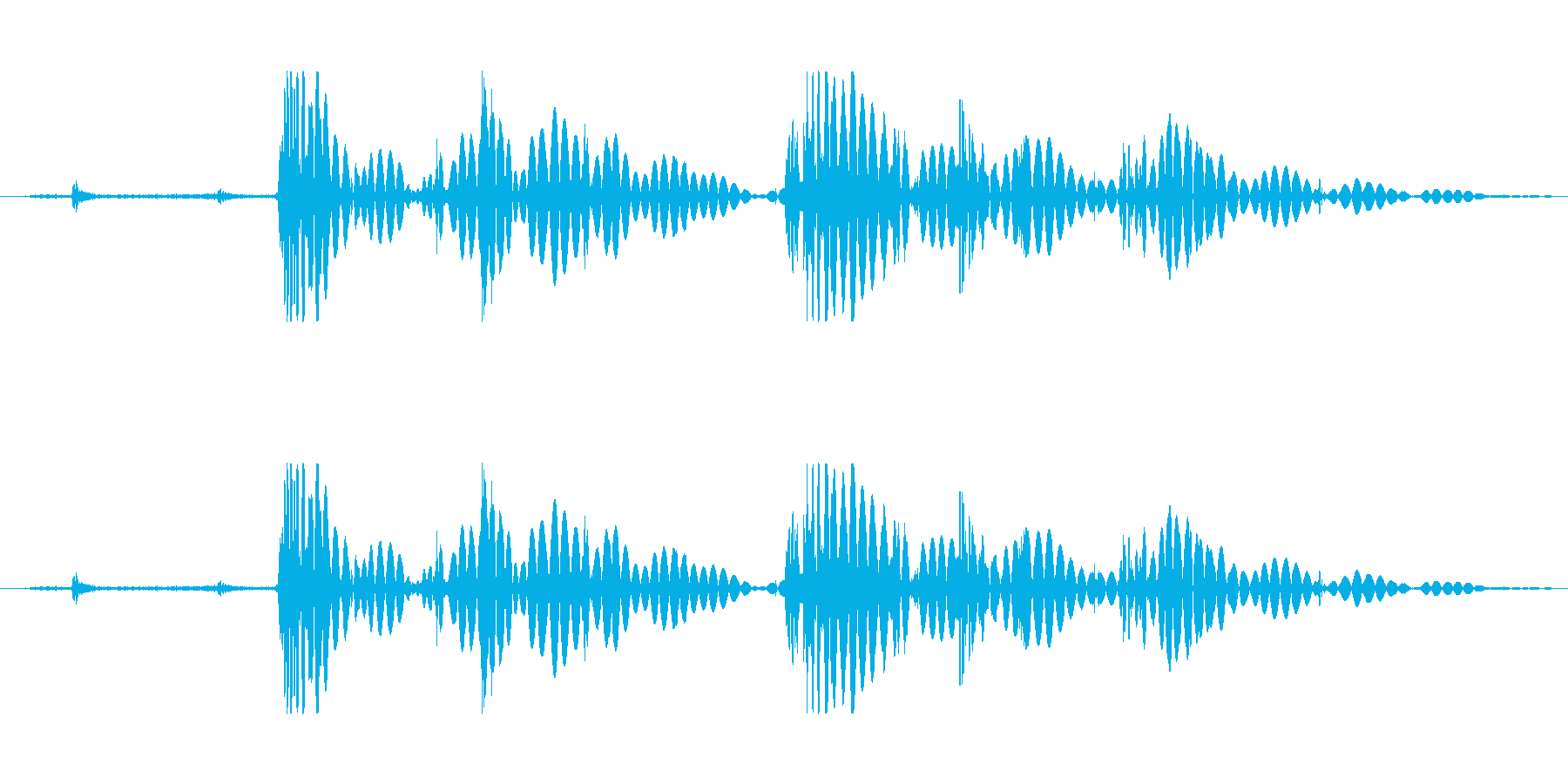ショートローリングロックタンブルの再生済みの波形