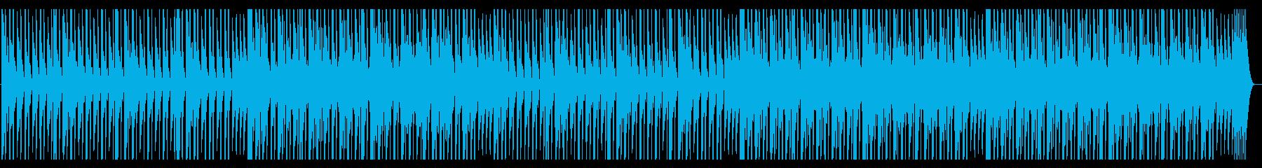 大人しくシンプルなテクノの再生済みの波形