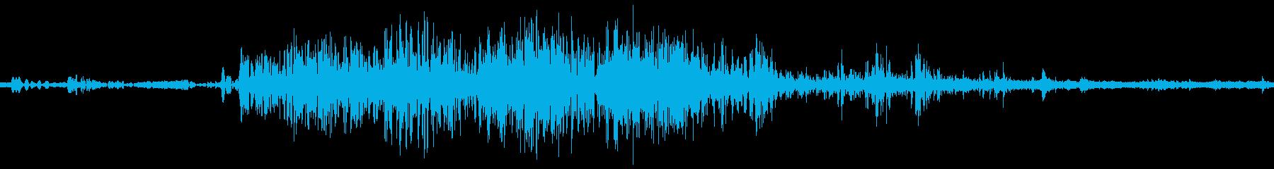 血gooshスプラットジューシーな変化の再生済みの波形