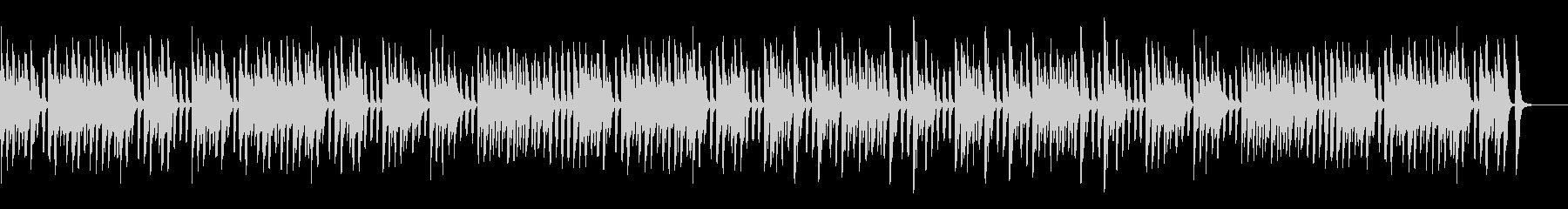 レトロでコミカルなお洒落なピアノの未再生の波形