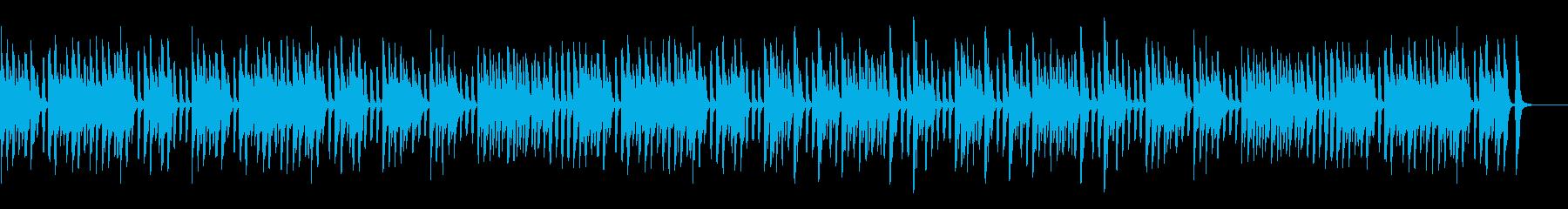 レトロでコミカルなお洒落なピアノの再生済みの波形