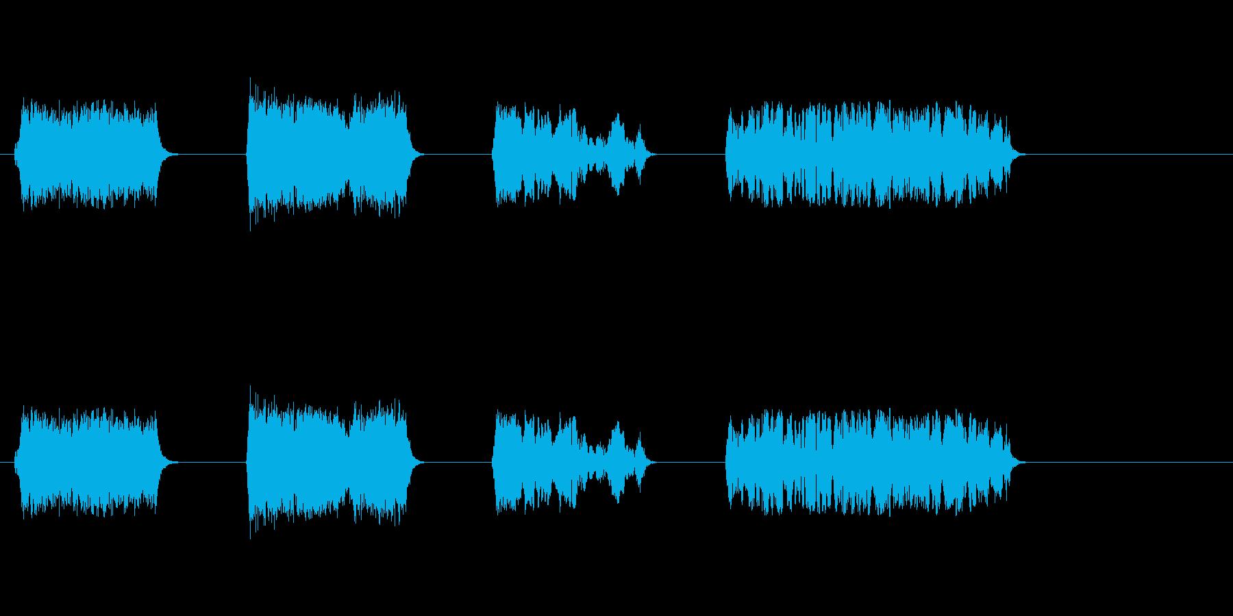 子供-10か月-チャット-笑いの再生済みの波形