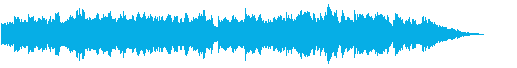 ゆったりとしたエレピソロ曲の再生済みの波形