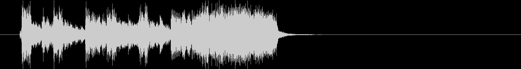 ファンクギターによるE7のジングルの未再生の波形