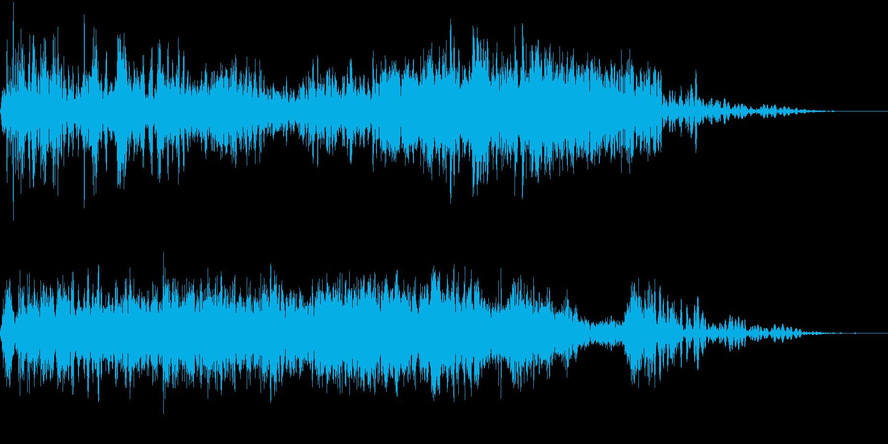 悲鳴のスワイプの再生済みの波形