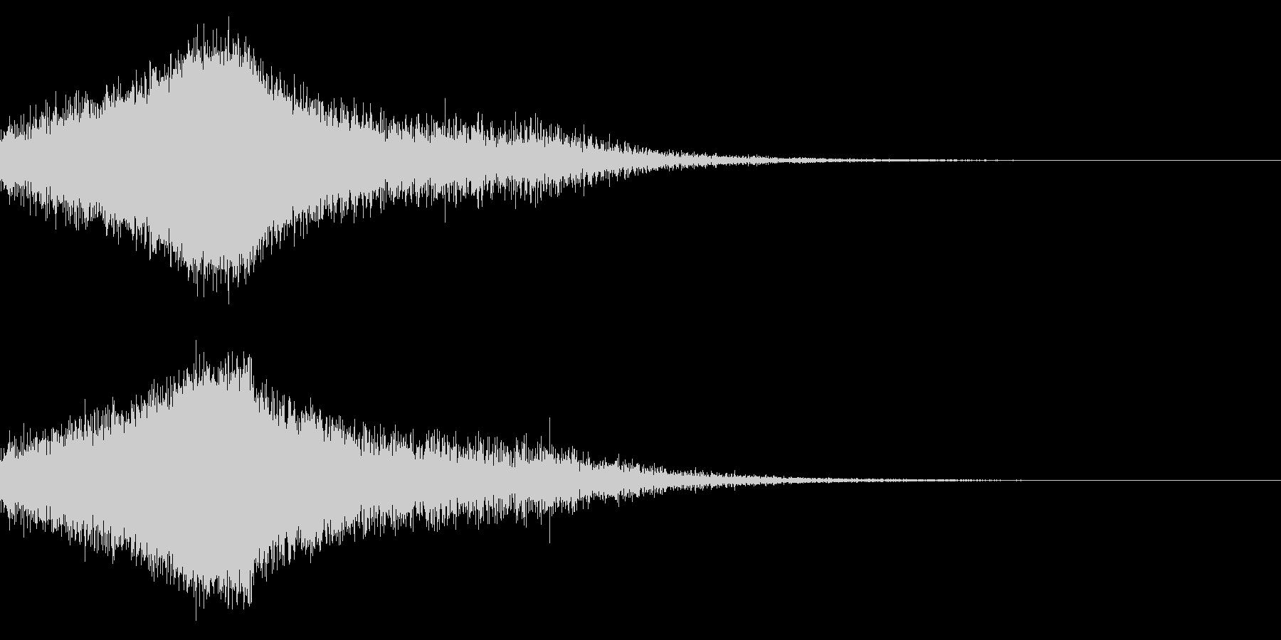 しゅわーの未再生の波形