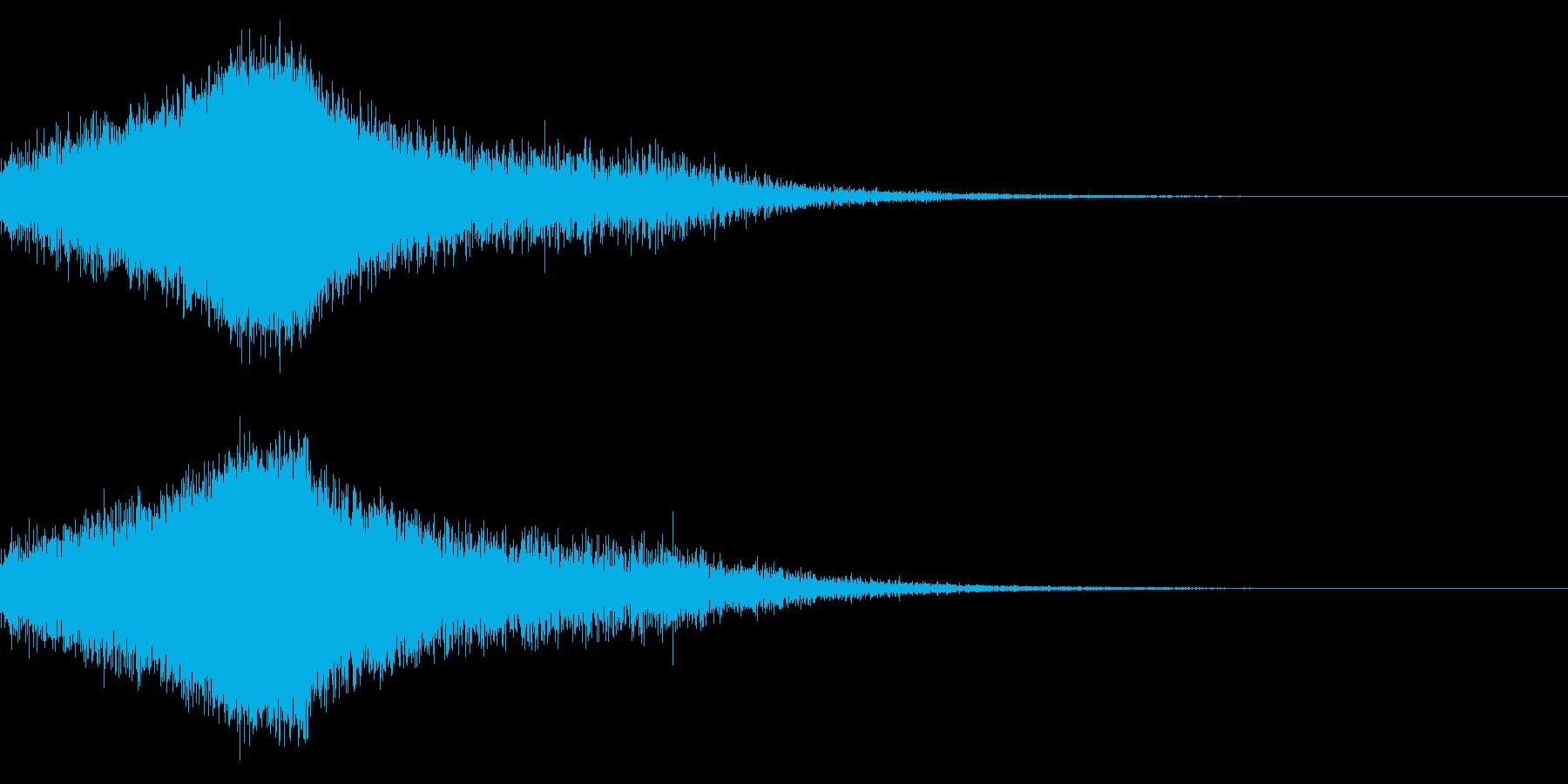 しゅわーの再生済みの波形