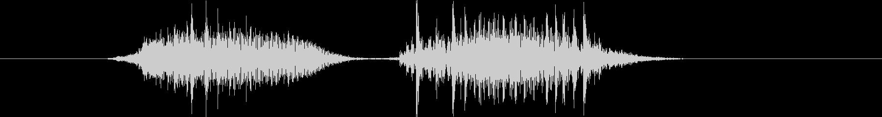 トランジション 擦れる音 17 の未再生の波形