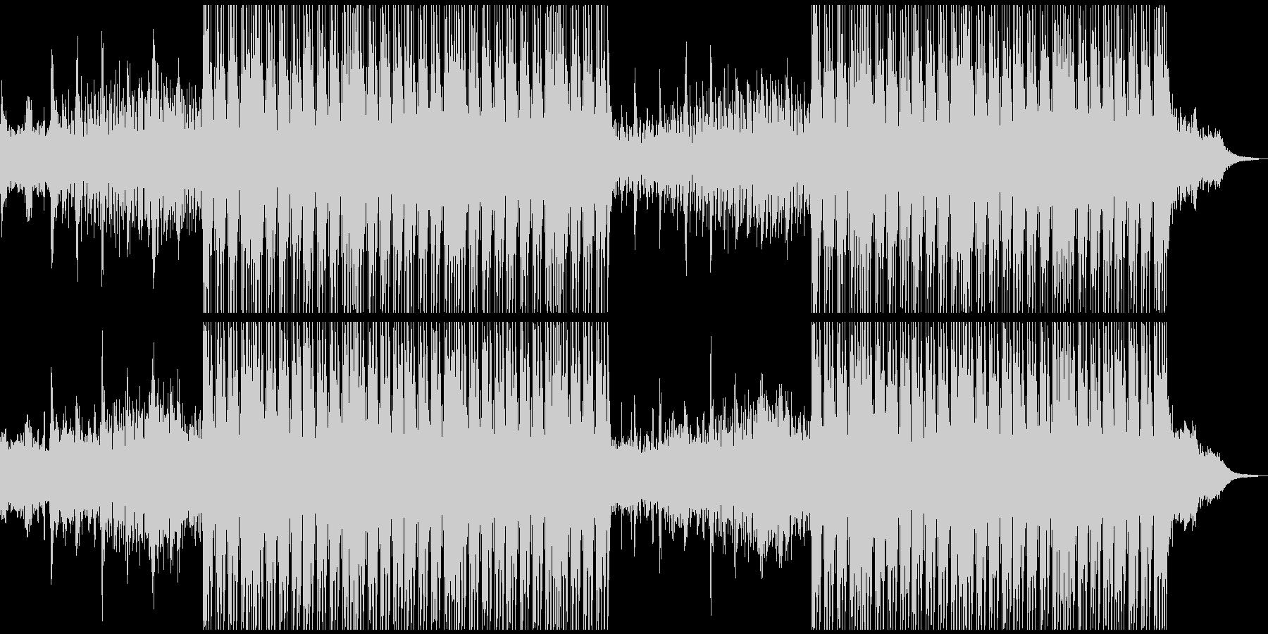 少し未来的で神秘的な電子系ミュージックの未再生の波形