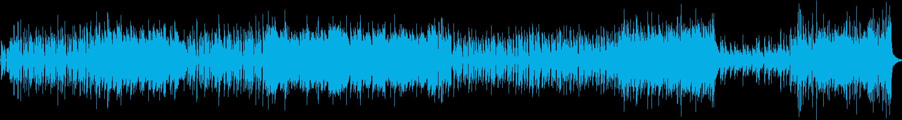 ロックバンド風 盛り上がる曲の再生済みの波形