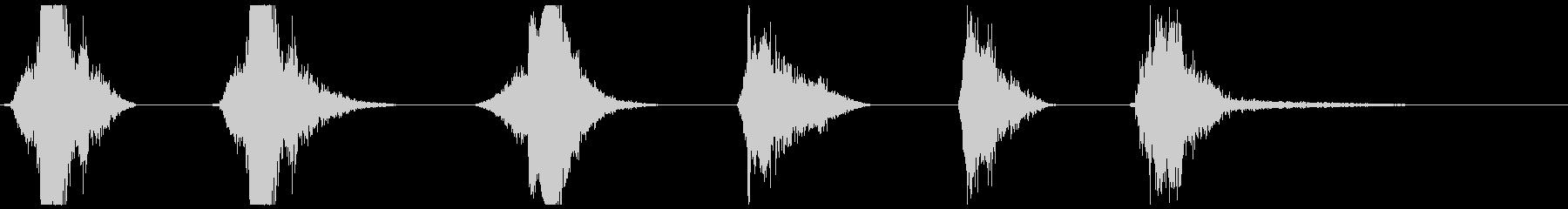 爆発的影響X6の未再生の波形
