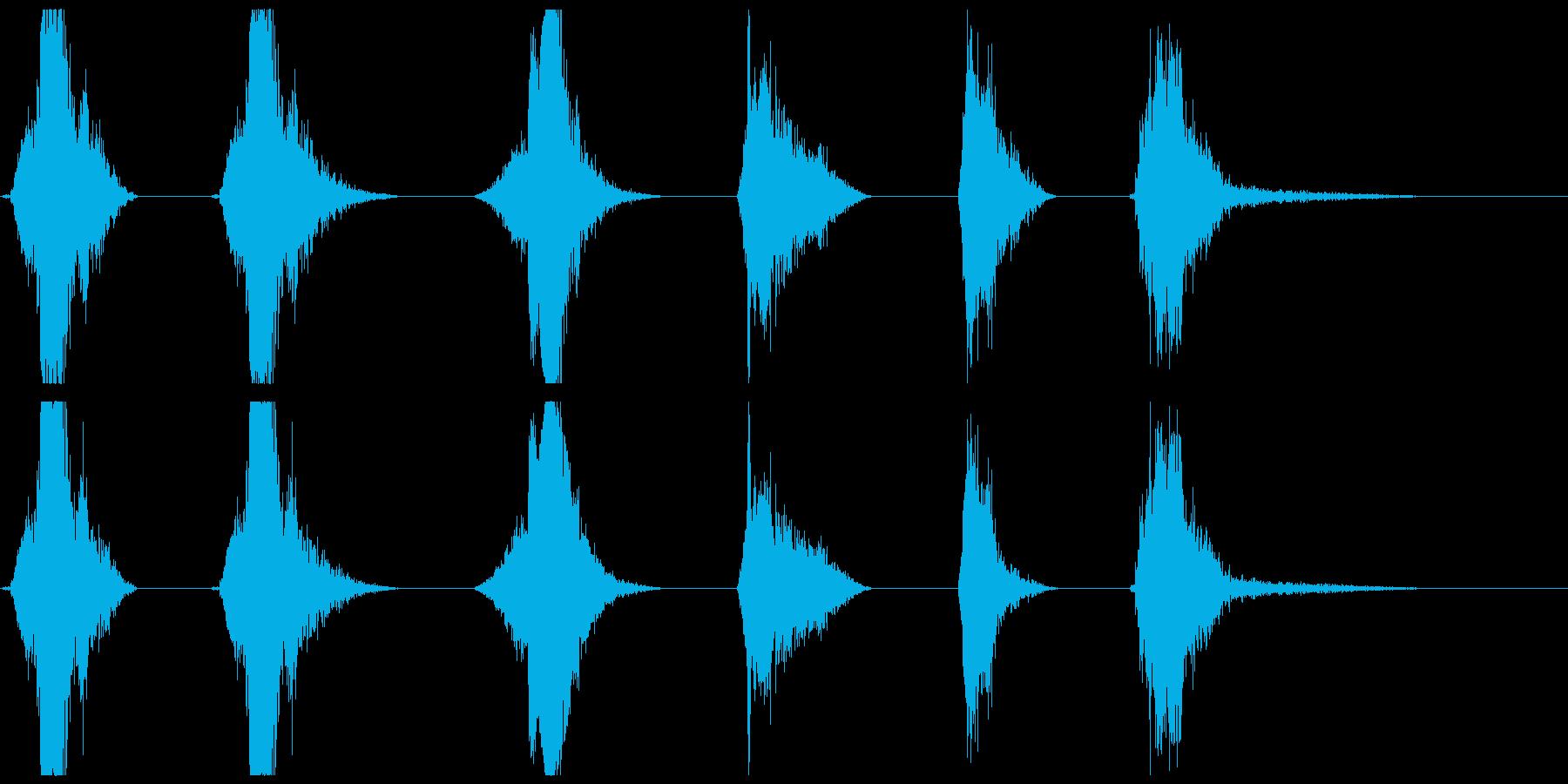 爆発的影響X6の再生済みの波形
