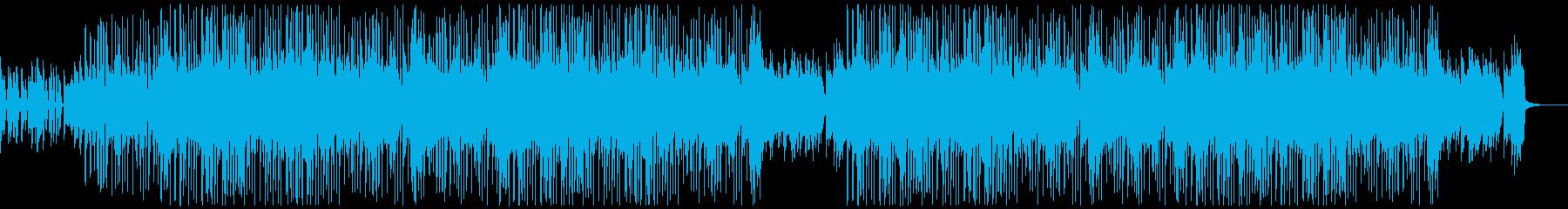 BPMおさえめおしゃれファンクBGMの再生済みの波形