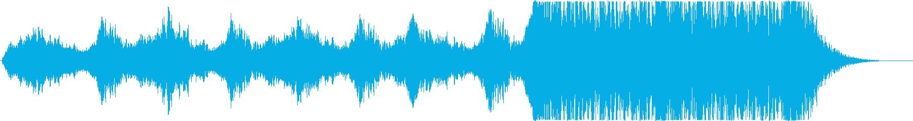 怖いうめき声~打楽器◆予告編/トレーラーの再生済みの波形