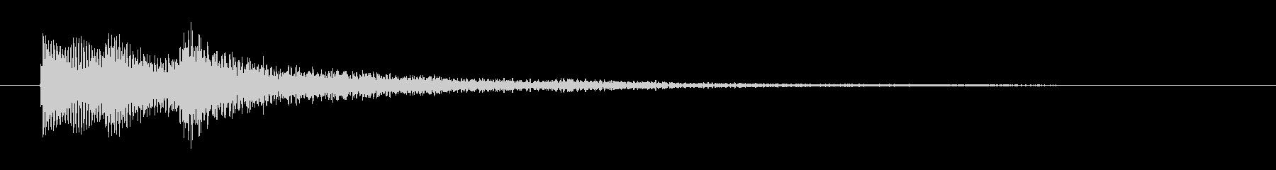 企業・CM ピアノのサウンドロゴの未再生の波形