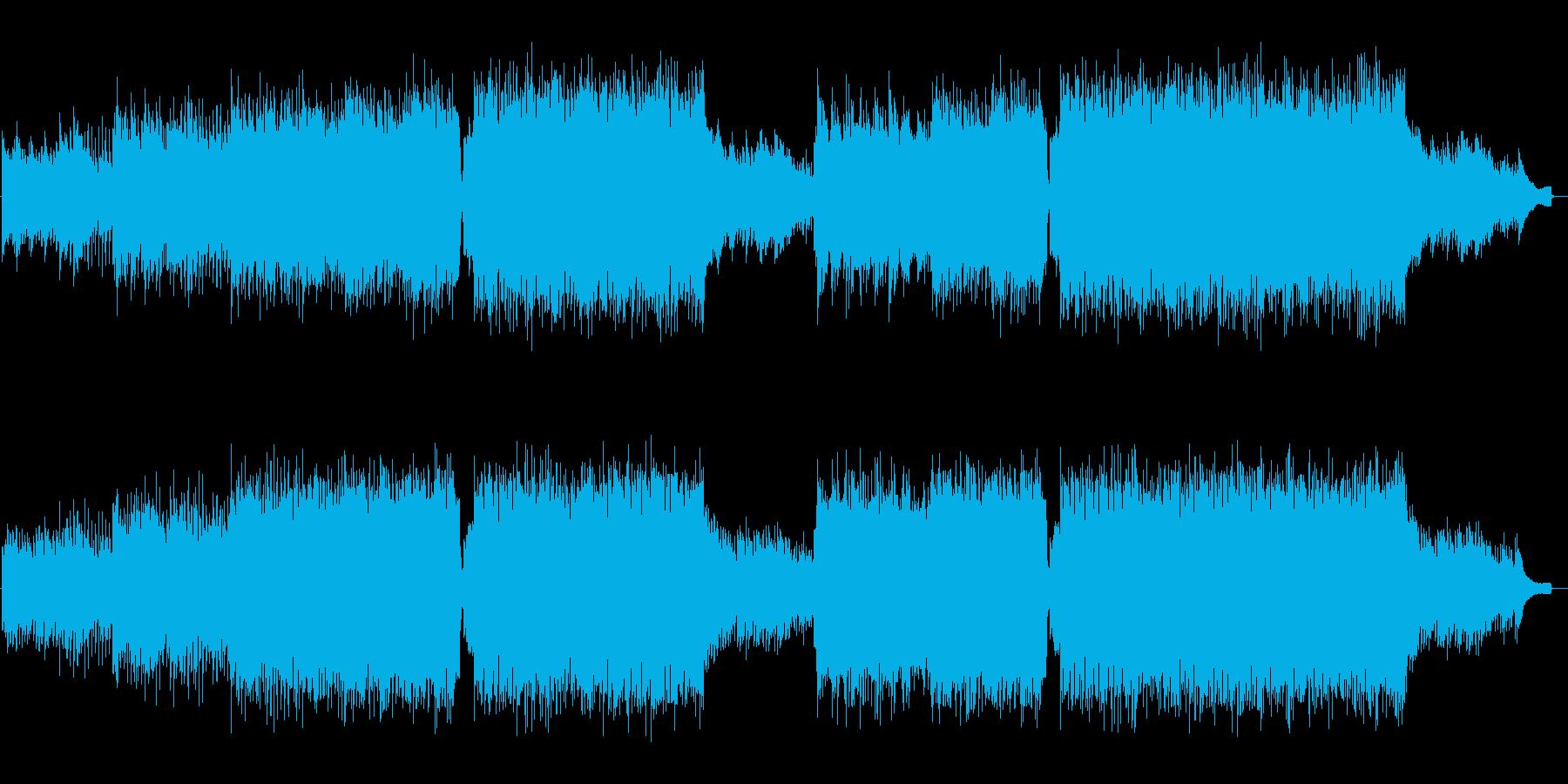 生バイオリンとピアノの爽やか明るいポップの再生済みの波形