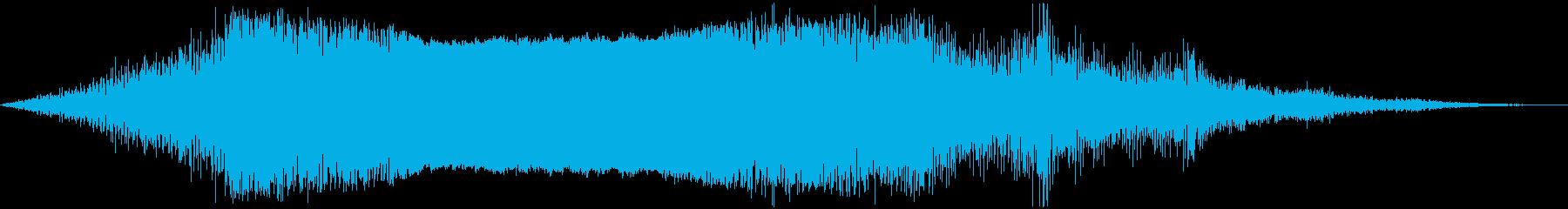 ヘリコプターの飛行(4枚羽根)の再生済みの波形