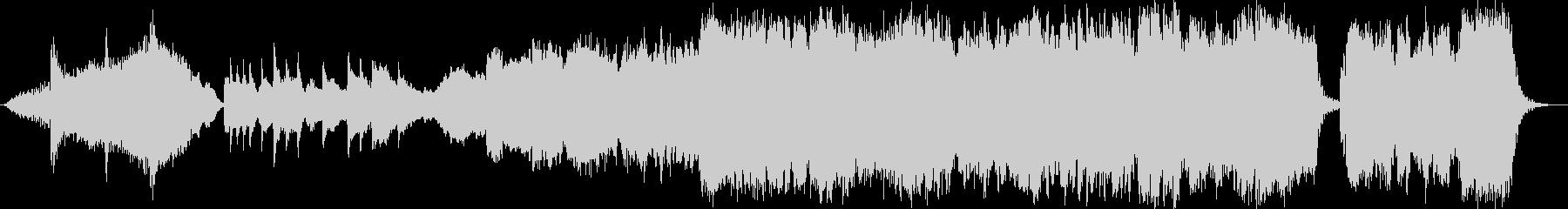 ピアノと生演奏尺八 感動のエンディングの未再生の波形