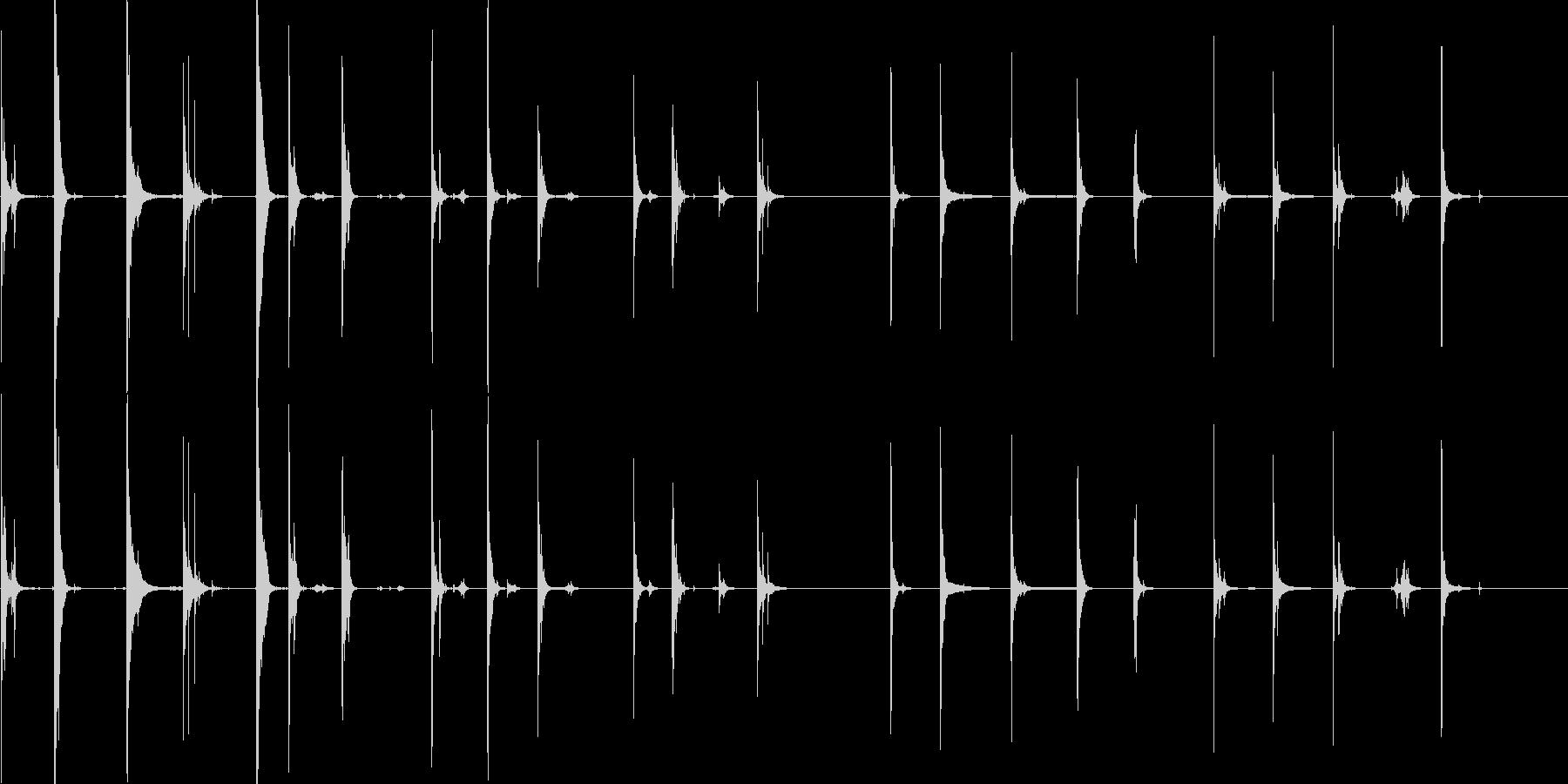二人のライトセイバー剣バトルの未再生の波形