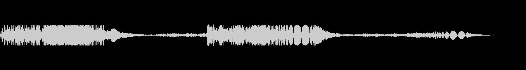 レーザーリコシェット1の未再生の波形