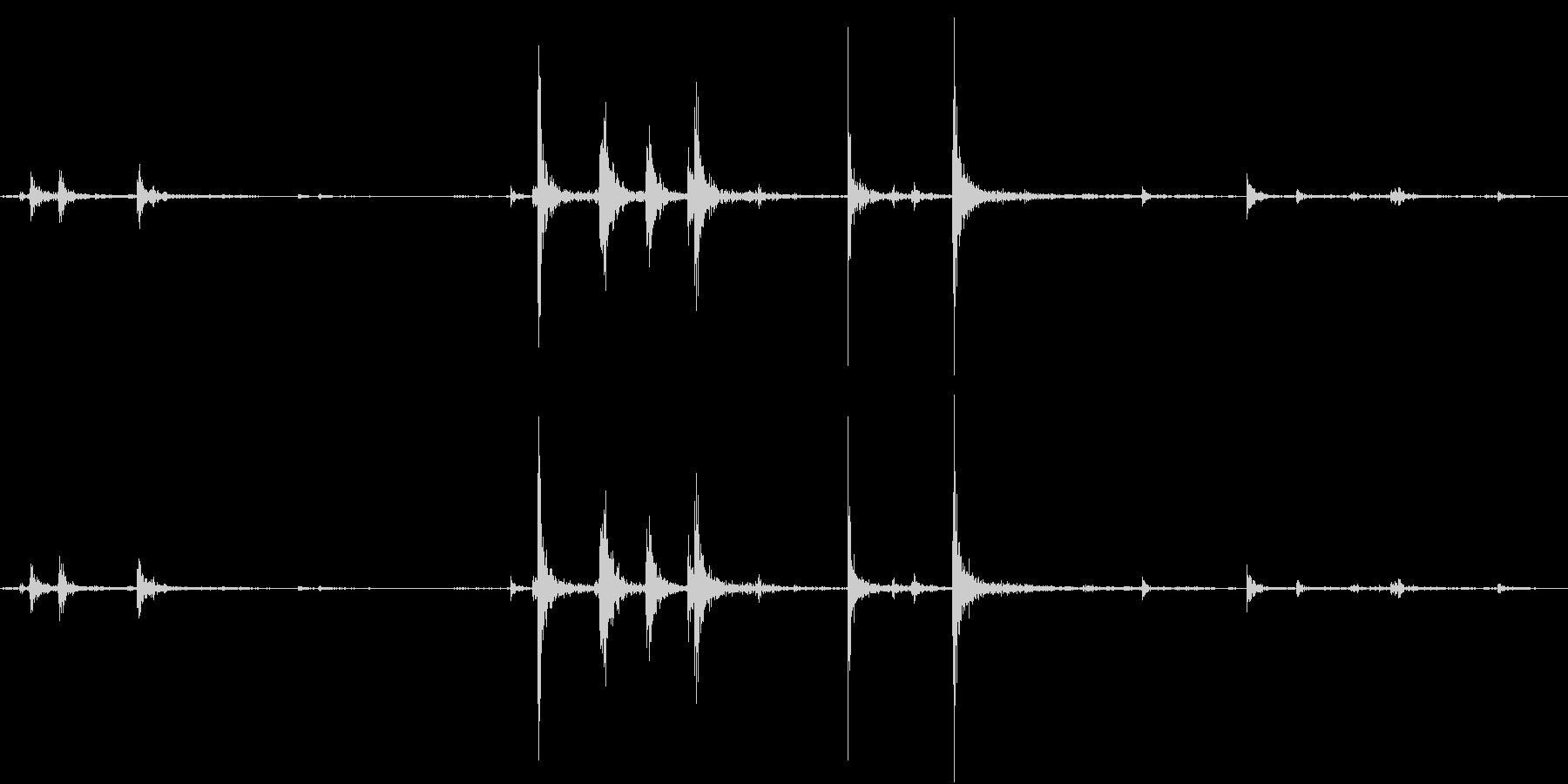 【生録音】弁当・惣菜パックの音 5の未再生の波形