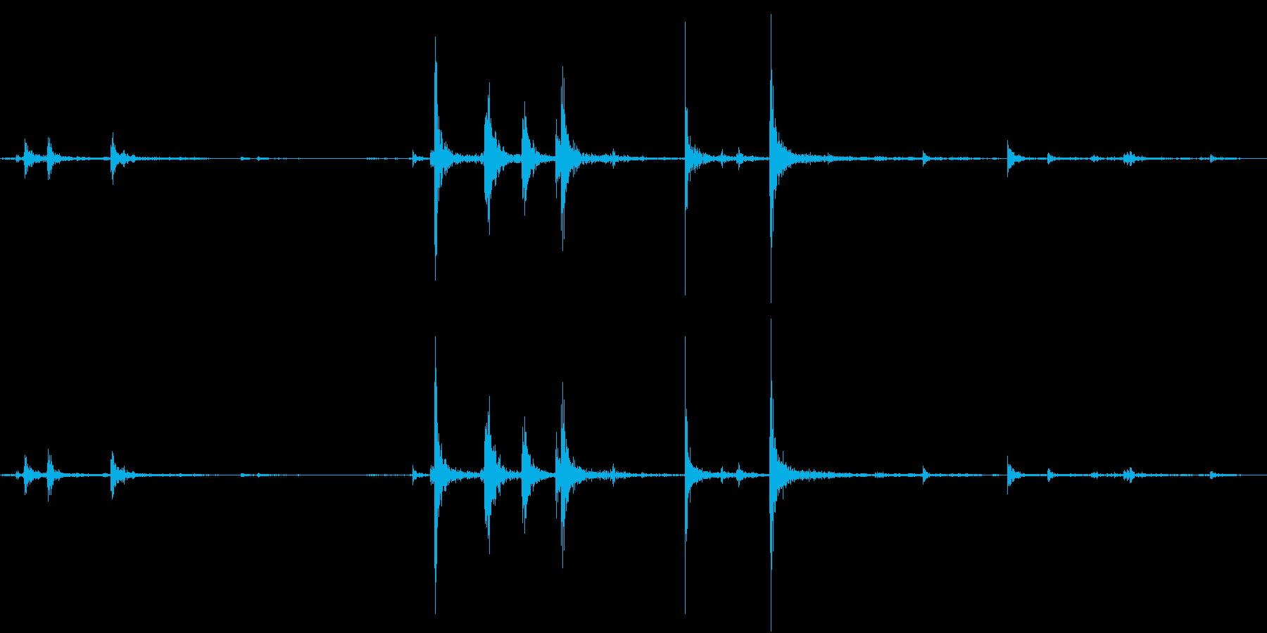 【生録音】弁当・惣菜パックの音 5の再生済みの波形