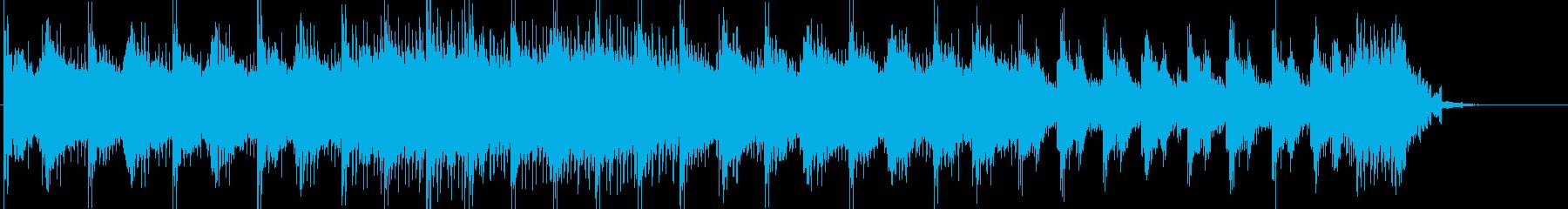 不穏な雰囲気のうっすらと不気味な曲の再生済みの波形