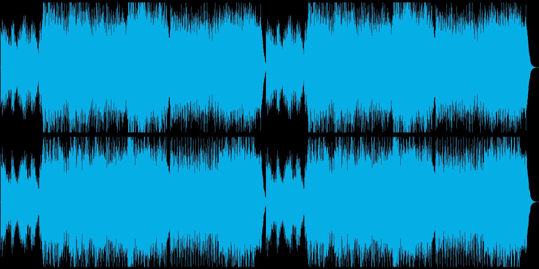 幻想的なヒーリングの再生済みの波形