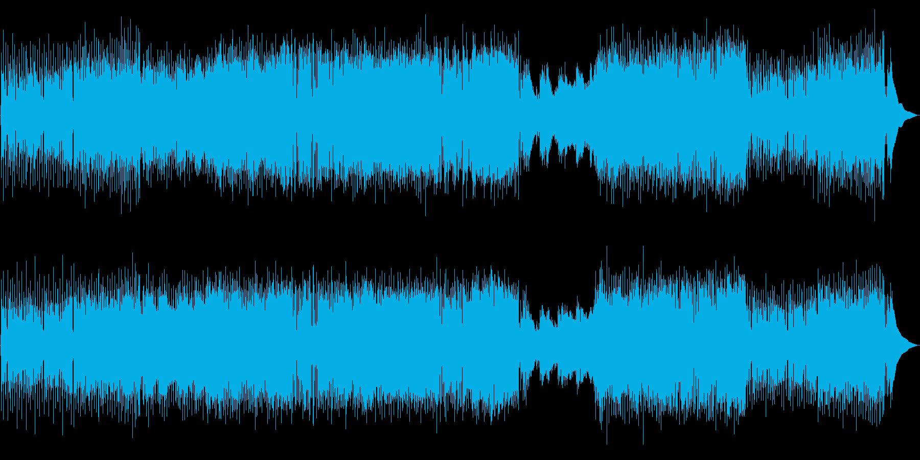 生演奏!アコースティックギターのポップスの再生済みの波形