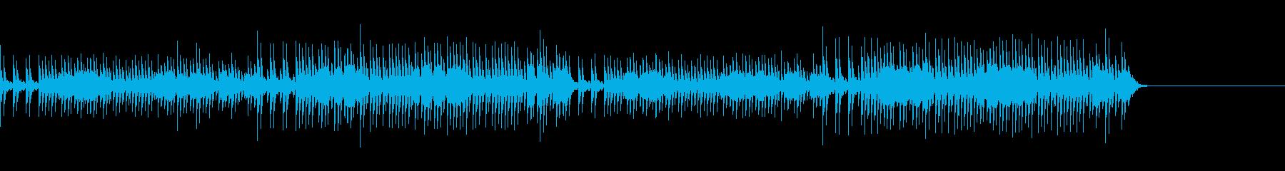 パワフルな太鼓のみの曲の再生済みの波形